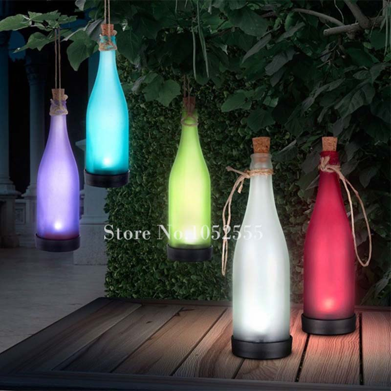 Beautiful Hanging Solar Led Lights Part   12: HOT 5pcs Solar Powered Lamp  Plastic Bottle
