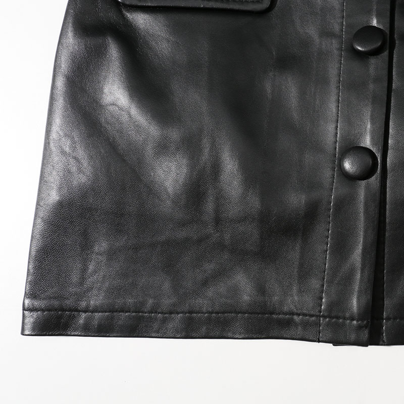 2019 Plus Size Leather Skirts Women Black High Waist A line Mini Skirts Women Korean Short Black Real Leather Skirt for Sale in Skirts from Women 39 s Clothing
