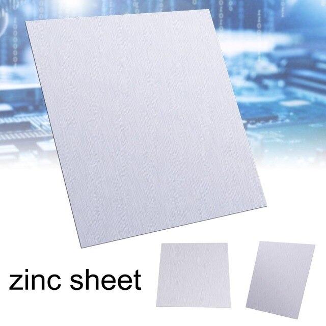 1Pcsแผ่นสังกะสีบริสุทธิ์99.9% โลหะสังกะสีแผ่นฟอยล์สำหรับวิทยาศาสตร์Labอุปกรณ์เสริม100x100x0.5mm