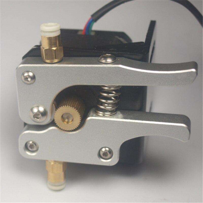 ФОТО Super quality Reprap 3D printer 1.75 mm all metal aluminum Anodized full bowden extruder with 17 nema stepper motor
