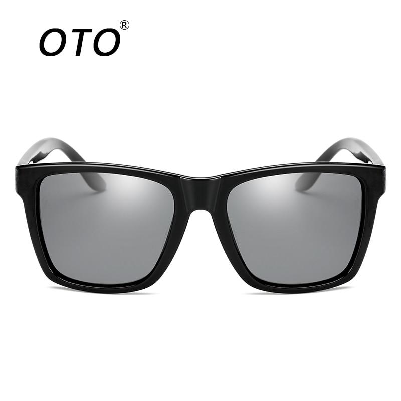 OTO New Arrival Polarized Men Sunglasses Fashion Black Square Frame ...