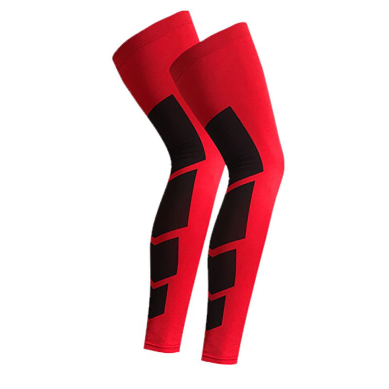 1PCS Cycling Running Knee Pad Leg Warmers Antiskid Long Knee Support Brace Pad Protector Sports Basketball Leg Sleeve