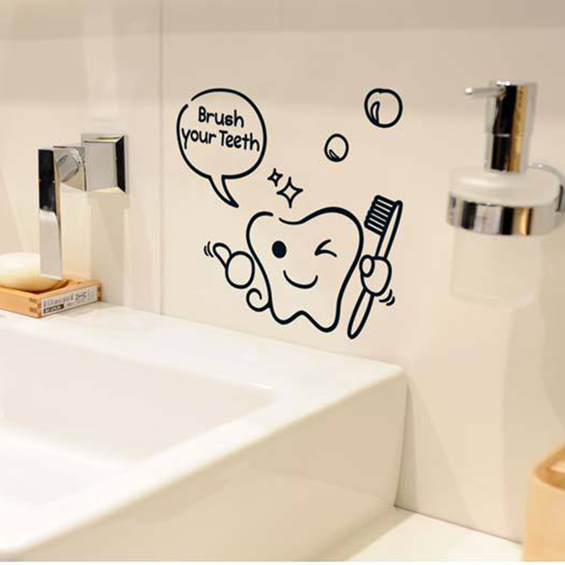 US $0.8 32% OFF|DIY Funny Bathroom Wall Sticker Glass Door Waterproof Wall  Decals Cute Children Shower Sticker Removable Toilet Sticker-in Wall ...