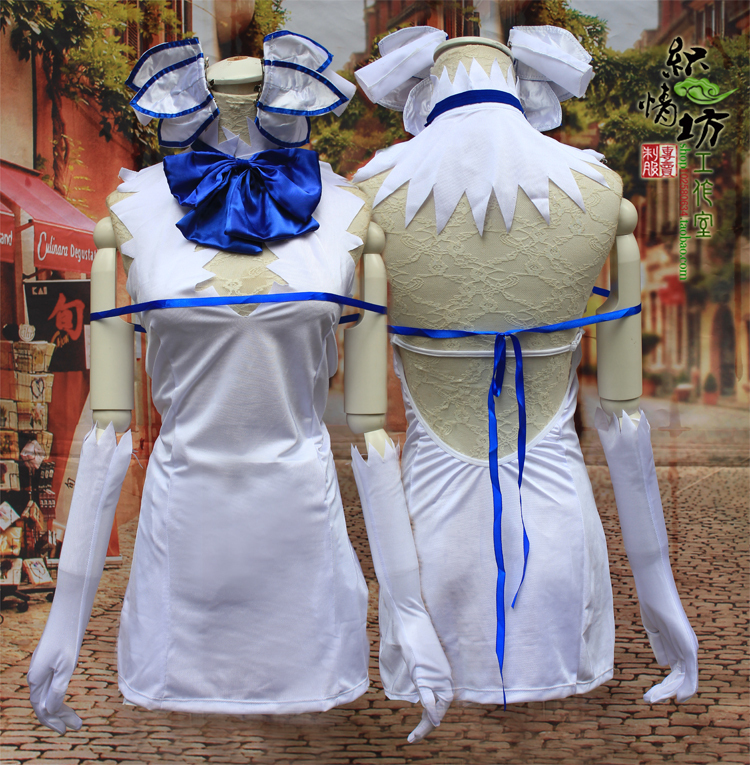 Is It Wrong to Try to Pick Up Girls in a Dungeon? Hestia Bodycon Cosplay Dress Party Costumes dress+tie+gloves+headwears Wig