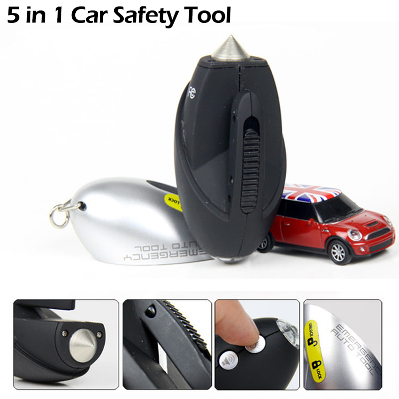 Easy Carry 5 in 1 Car Emergency Rescue Hammer Window Broken Tool Practical Emergency Hammer For Safety ra 8813a 2 in 1 car safety hammer sets of mobile phone charging plug combination set of vehicle emergency rescue toolbox