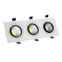 [DBF] כיכר ראשי LED COB Downlight 15 W 21 W 30 W 36 W LED שקוע תקרה למטה אור הוביל COB אור ספוט ניתן לעמעום LED Downlight