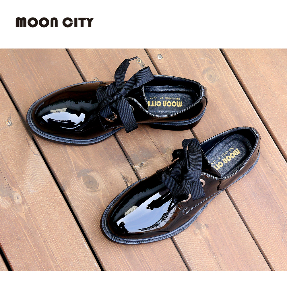 2019 Fashion Spring & Autumn Oxford flats woman loafers shoes femme New Patent Leather shoes woman Casual Riband Women's Flats