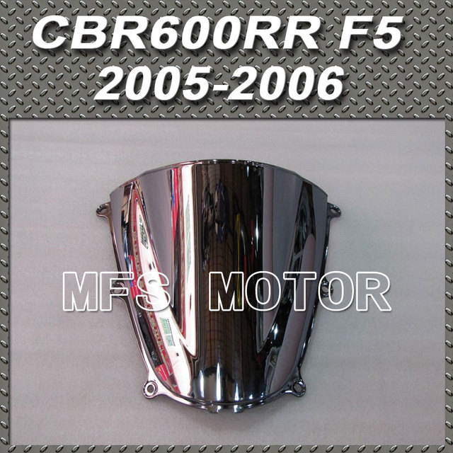 New For Honda CBR 600RR F5 2005 2006 05 06  Windshield Motorcycle Part Windscreen Silver