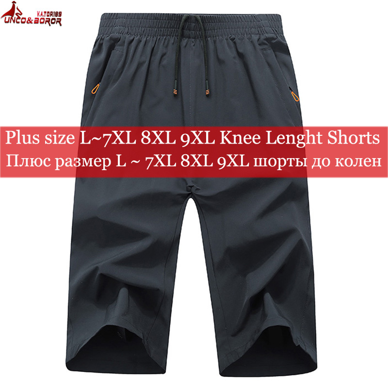 1~3 Pack Size 8XL 9XL Men`s Summer Bermuda Masculino Beach Shorts Fitness Male Casual Breathable Quick-drying Joggers Men Shorts