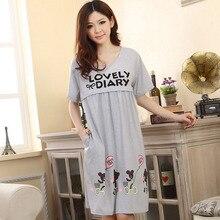 Большой Размеры одежда для сна, для беременных, кормящих грудью Ночная сорочка с длинным рукавом платье для беременных Для женщин Беременность пижамы одежда D0029