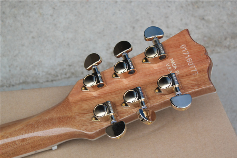 Free Shipping Best Price l standard custom natural spalted maple Wood top and back body color Electric Guitar 16 131
