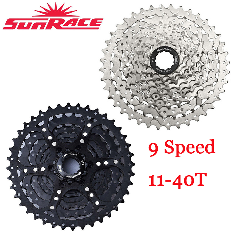 Sunrace 9Speed 11-40T Cycling Cassette 9S MTB Bike Freewheel fit Shimano SRAM