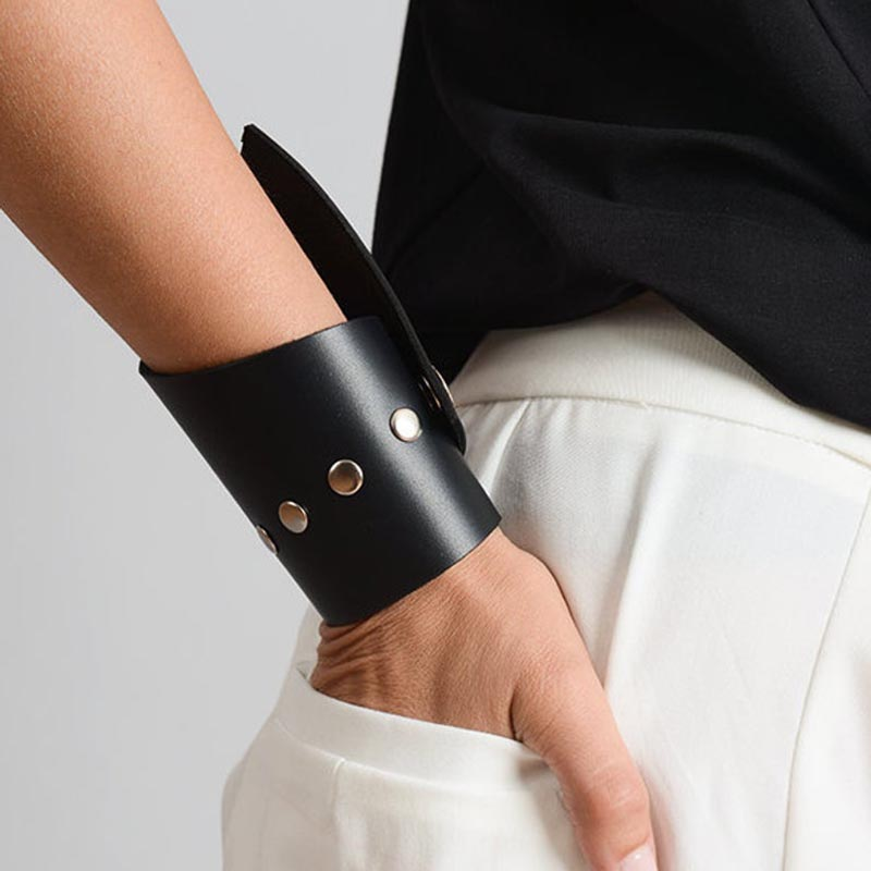 Rivet punk Leather Bracelet