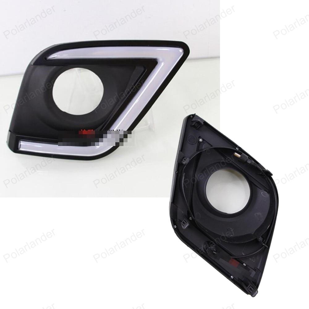car DRL for T/oyota H/ILUX R/EVO 15 16 daytime running lights fog light front LED turn signals lamp