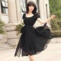 Summer dress ropa de estilo coreano mujeres partido prom vestidos de noche de gasa largo de la vendimia elegante femenina dress vestido w030