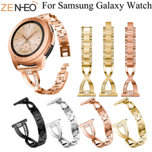 Metal Bands Bling Rhinestones Strap for Samsung Galaxy Watch Bracelet For Gear sport S2 S3 watch Band 20/22mm