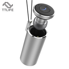 TTLIFE Bluetooth 4 2 Earphone Mini Wireless Car Driver Stereo Music Headphone with Charging Base Necklace