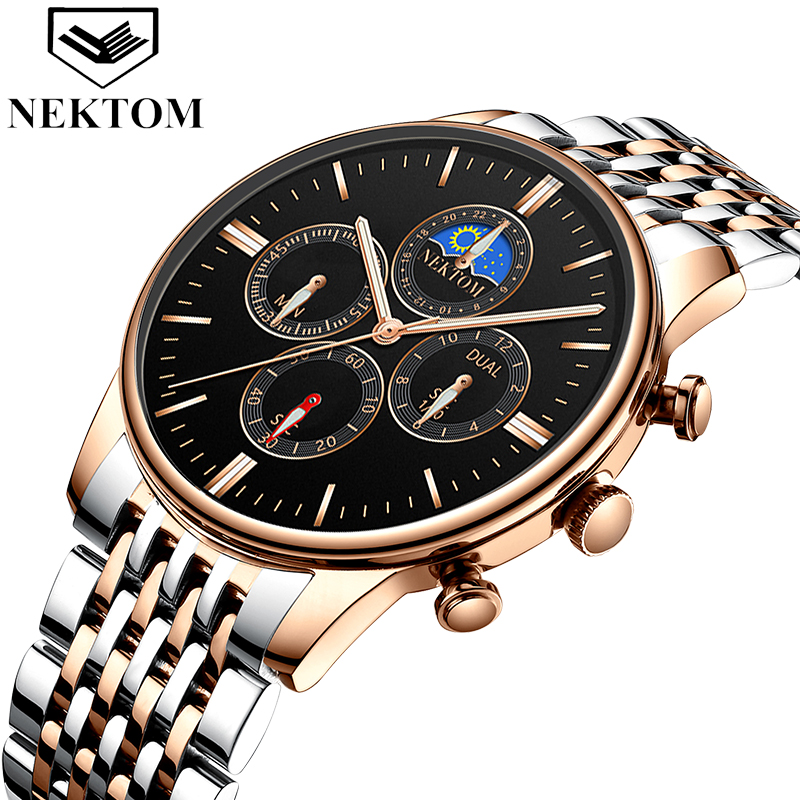 NEKTOM 2019 Relogio Masculino Waterproof Men Watch Luxury Famous Top Brand Sport Watch Military Quartz Men