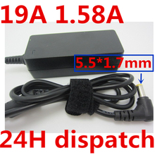 """HSW 19V 1.58A 30W 5.5*1.7mm Replacment Laptop computer AC Energy Adapter Charger for Dell Mini 9 10 12 Acer Aspire one 10.1"""" eight.9"""""""