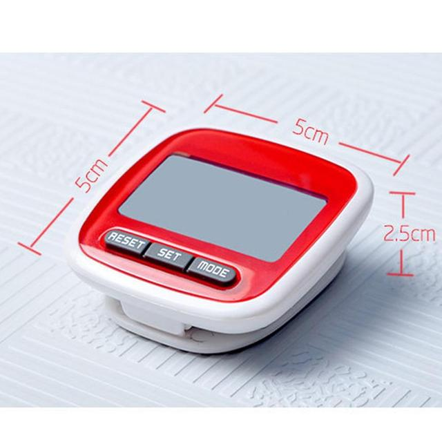 LumiParty Mini Small Step Counter Movement Calories Digital Pedometer with Waterproof Wear Resistance Big Screen Stappenteller