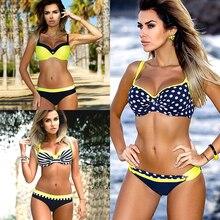 2018 Sexy Bikini Women Swimsuit girls Push Up Swimwear Bandage Halter Bikini Set Beach Bathing Suit mujer Swiming Wear Plus XXL