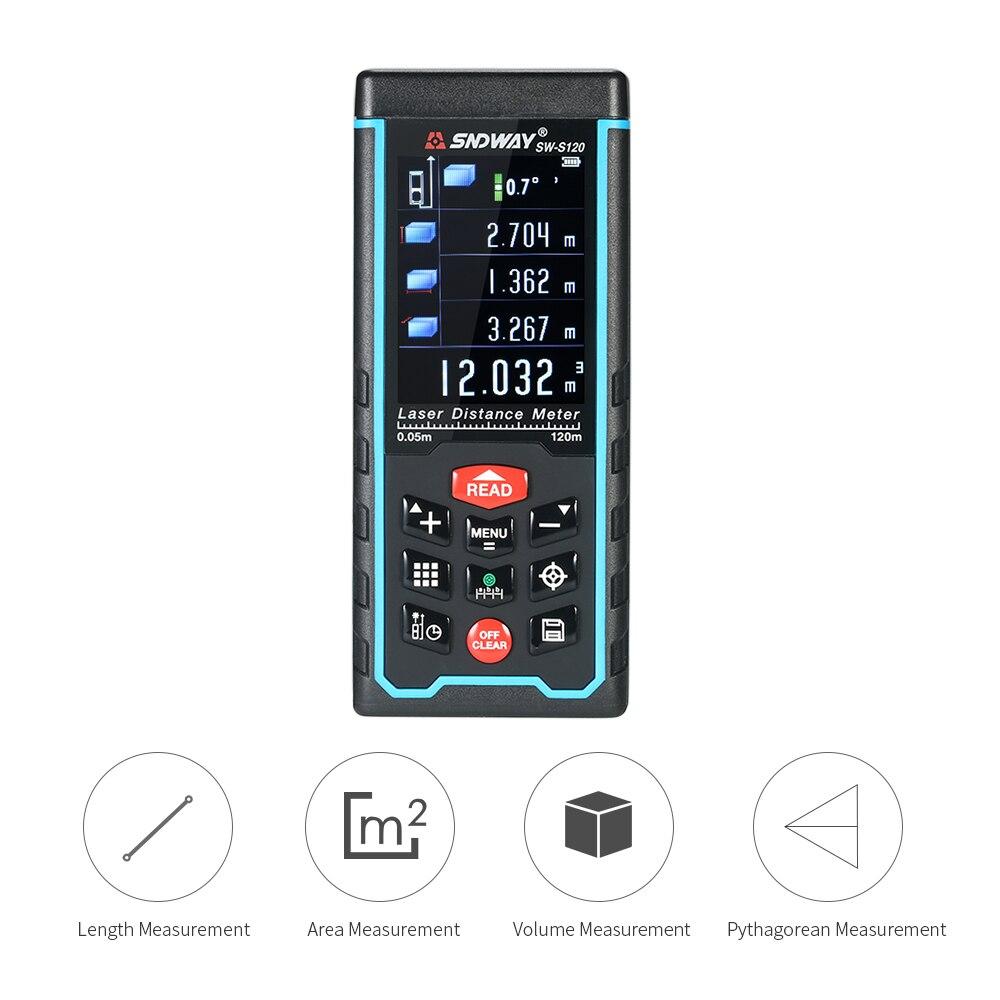 120 M Usb Laser Afstandsmeter Mini Bouw Gereedschap Handheld Digitale Laser Afstand Meter Range Finder 100 Groepen Gegevens Opslag Geweldige Prijs