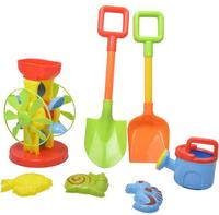 Hot Sale 7pcs Set Children Play Hourglass Sand Beach Toys Seaside Water Toy
