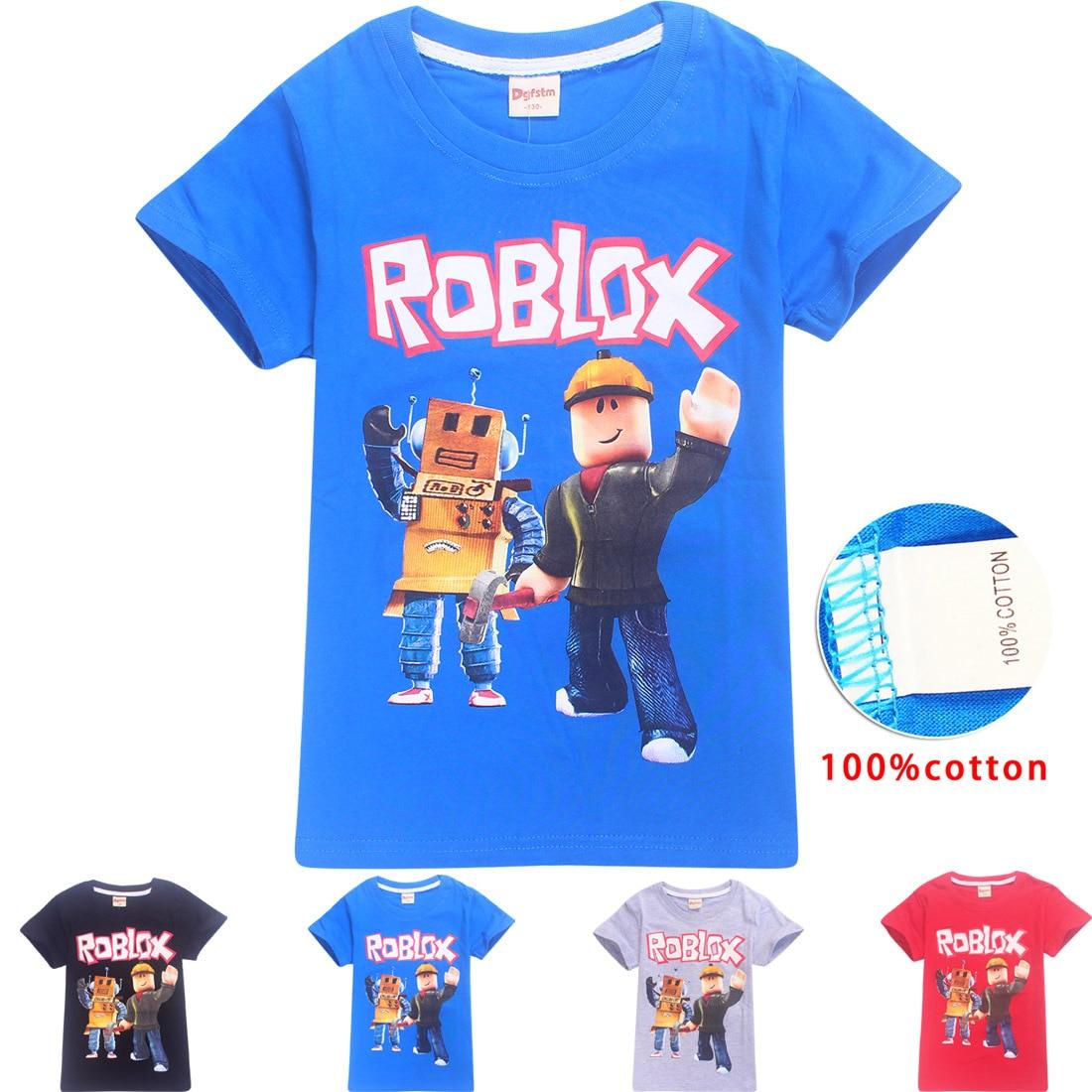 Gaming Print Short Sleeve Cotton Fashion Kids T-shirt Boys T Shirt Spring O-neck Casual Girls Tees Size 6 8 10 12
