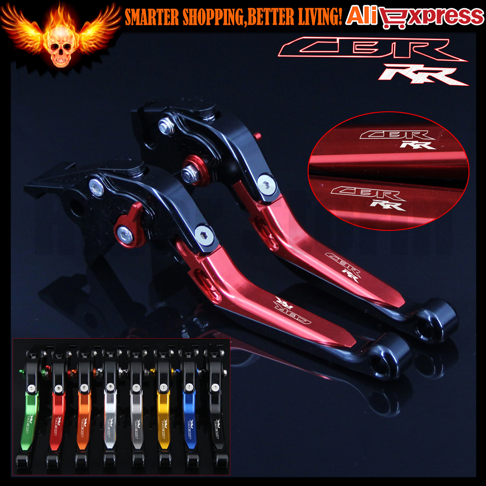 Logo CBRRR Adjustable Motorcycle CNC Brake Clutch Levers for Honda CBR600RR 2007 2008 2009 2010 2011 2012 2013 2014 2015 2016 kemimoto 2007 2014 cbr 600 rr aluminum radiator grille grills guard cover for honda cbr600rr 2007 2008 2009 2010 11 2012 13 2014