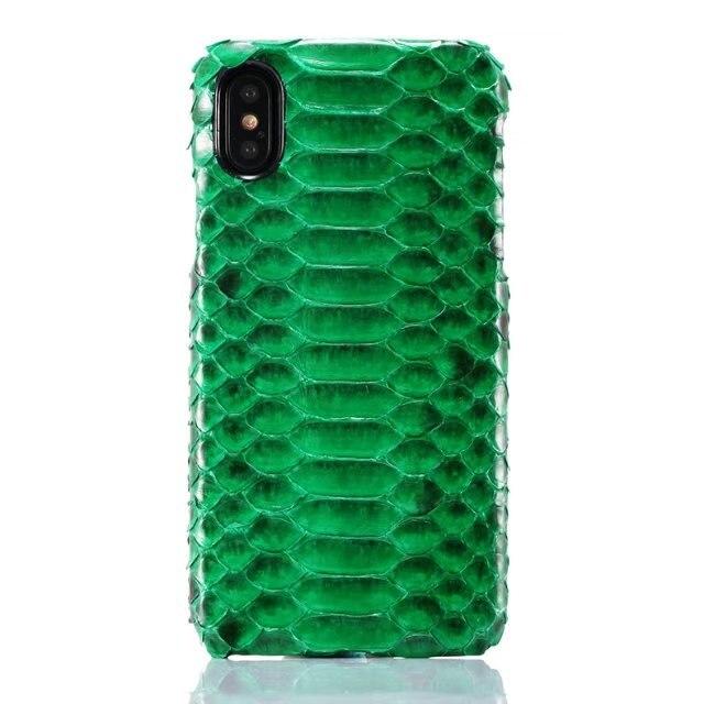 6 couleurs pour l'iphone X 5.8 ''couverture arrière Réel naturel Véritable peau de python En Cuir boa constrictor téléphone Cas pour iphoneX