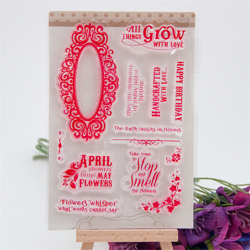 New arrivalflowers whisperdiy scrapbooking Transparent Stamp Clear Stamp For DIY Photo Album for paper card RM-198 the whisper