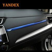 Yandex storage box Glovebox stainless steel decorative trim 3pcs for Honda 2017 CRV CR V Interior Decoration Stickers