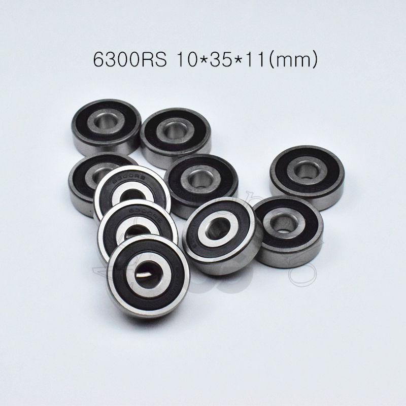 6300RS 10*35*11(mm)  1Piece Free Shipping Bearings 6300 6300RS Chrome Steel Deep Groove Bearing