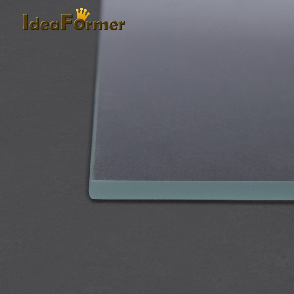 lowest price 3D Printer Accessories Reprap MK2 Heated Bed Borosilicate Glass Plate tempered 1 pcs 3D Printer parts glass in good quality
