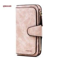 QIMANSHI Hot Wallet Brand Coin Purse PU Leather Women Wallet Purse Wallet Female Card Holder Long