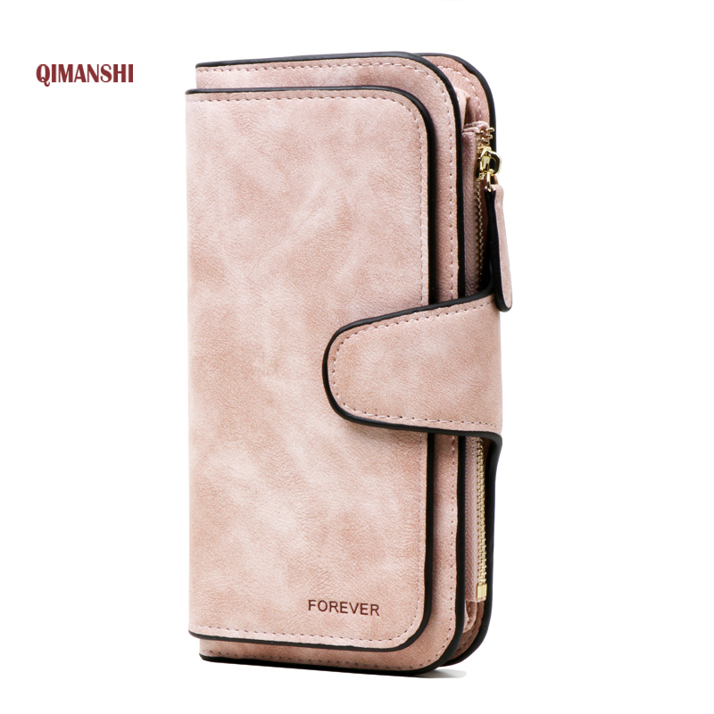 QIMANSHI Hot Wallet Brand Coin Purse PU Leather Women Wallet Purse Wallet