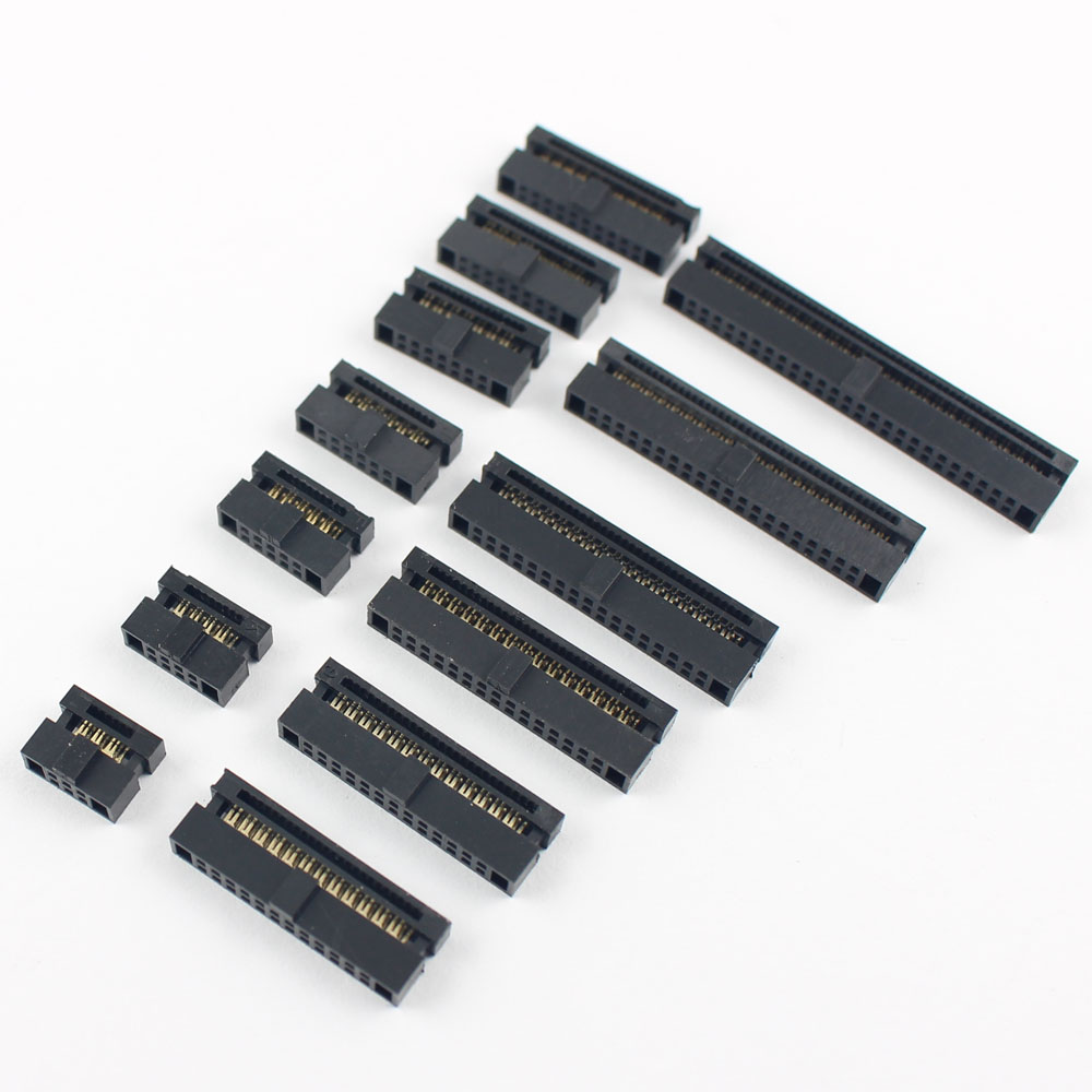 12x 40 Pin Male Single Row Straight Strip Pin Header PCB Panel 2.54mm Pitch Pack