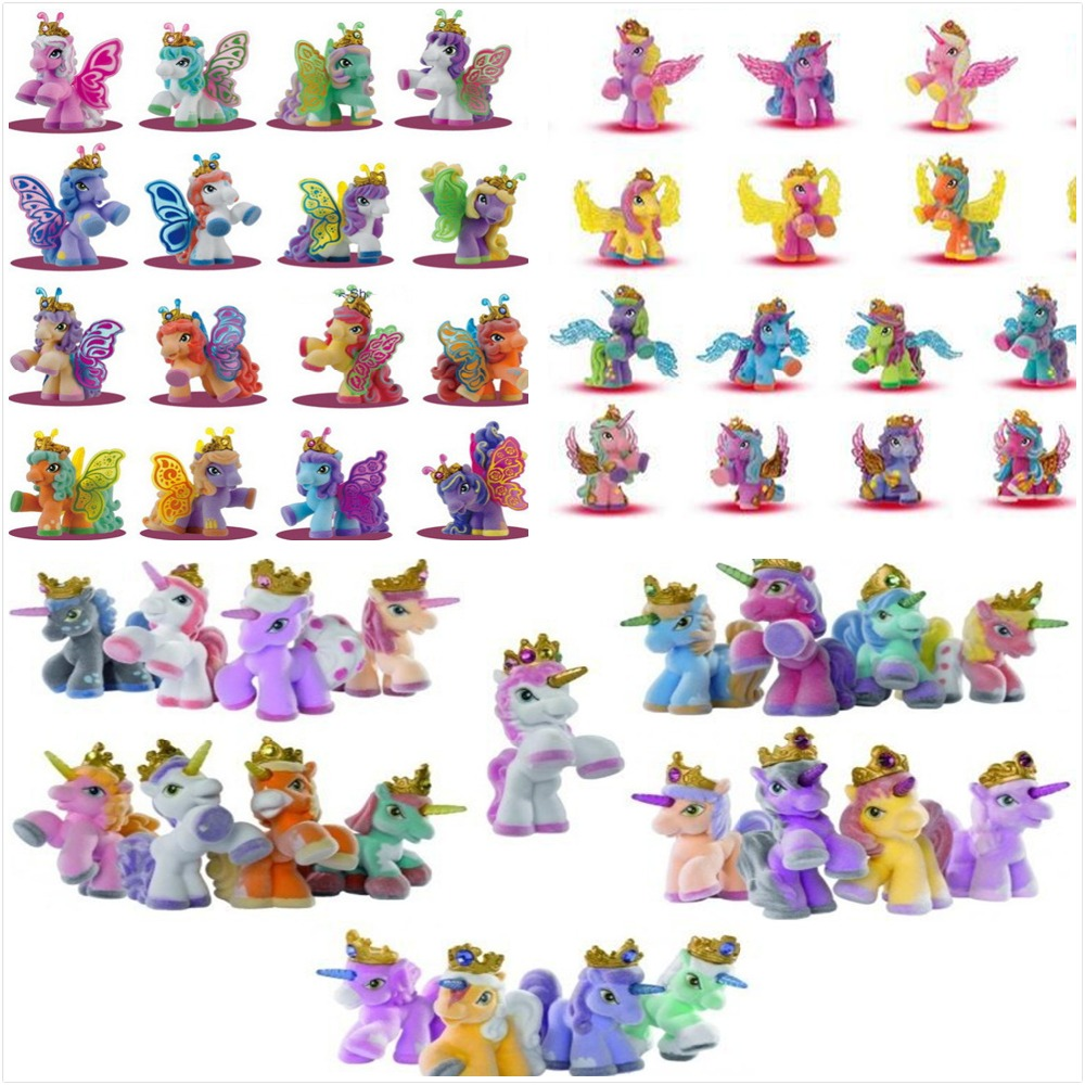 O for U 20Pcs/lot Big 5CM Many Styles Simba Filly Little Horse Rainbow Mini Horse Kids Animal Dolls Christmas Toys Gifts ...