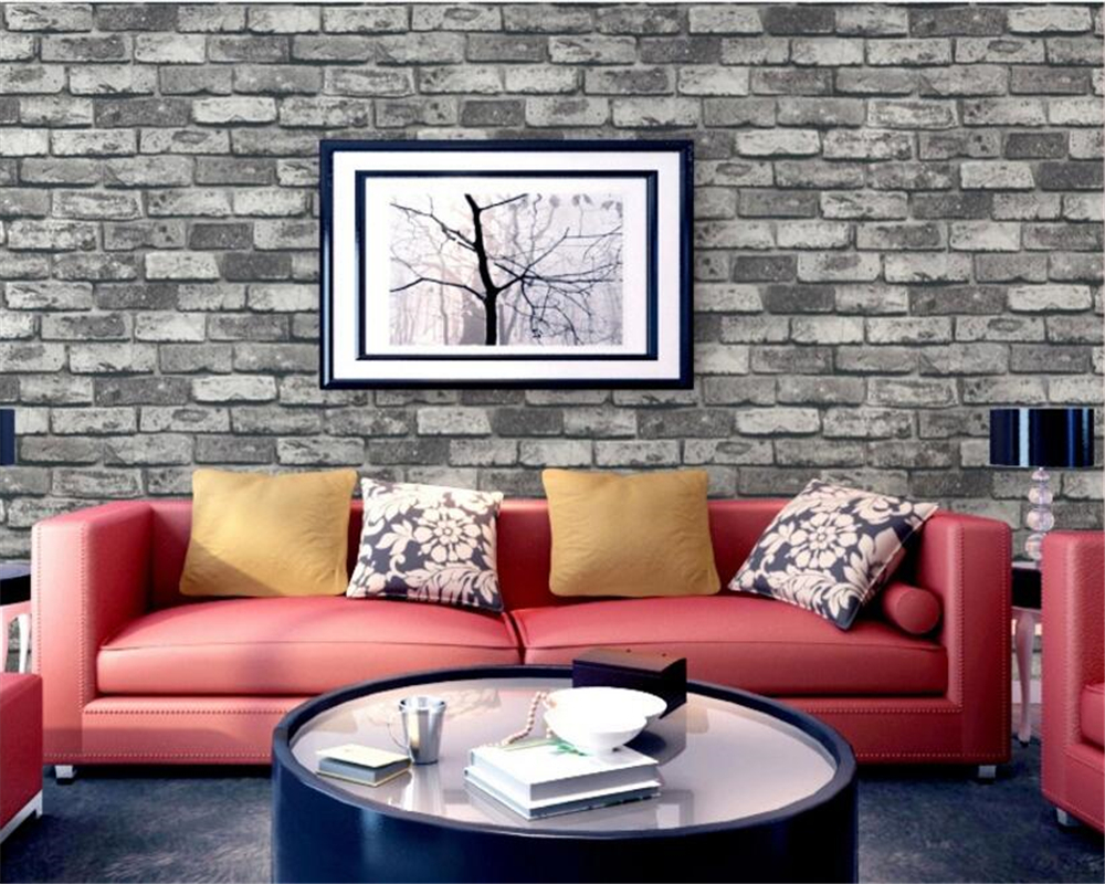 Beibehang Brick wall background Cyan wine red gray khaki background brick wall home decoration background 3d wallpaper for walls