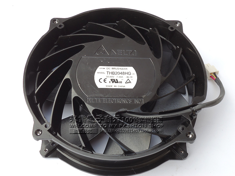 Delta Electronics THB2048HG -BL28 Server Round Fan DC 48V 7.00A 200x200x51mm 4-wire adda 54841l1s fast600epa server laptop fan dc 5v 0 5a 4 wire