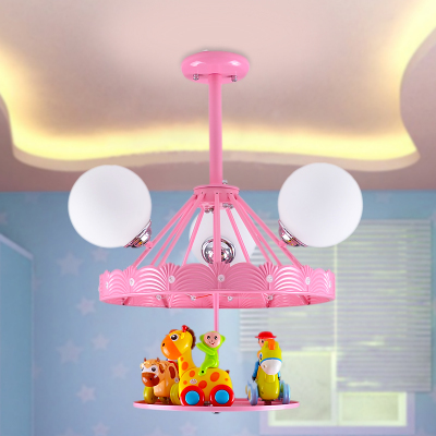 US $169.0 |Dream 3d child girls bedroom lighting fixtures led bulb remote  control kids living room ceiling light cartoon merry go round-in Ceiling ...