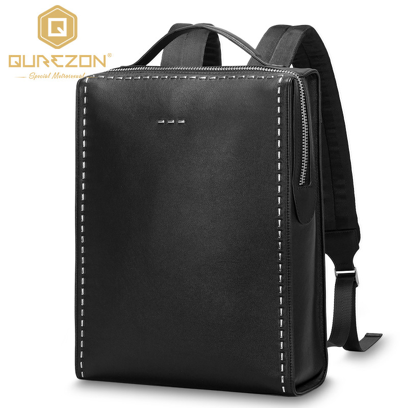 2017 Designer Brand Men's Genuine Leather Backpack Bag Brand 15Inch Laptop Notebook Mochila Bags for Men Back Pack backpack bag augur 2018 brand men backpack waterproof 15inch laptop back teenage college dayback larger capacity travel bag pack for male