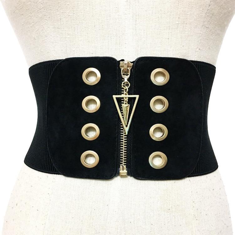 CHICEVER Knitted Elasticity Waist Female Belts For Women Cummerbund Good Quality Corset Bodycon Slim Wide Belt Fashion 2020