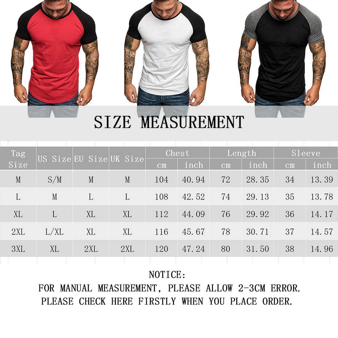 HEFLASHOR D'été hommes patchwork t-shirt court mince haut de sport t-shirt Raglan manches grande taille t-shirt camiseta hombre