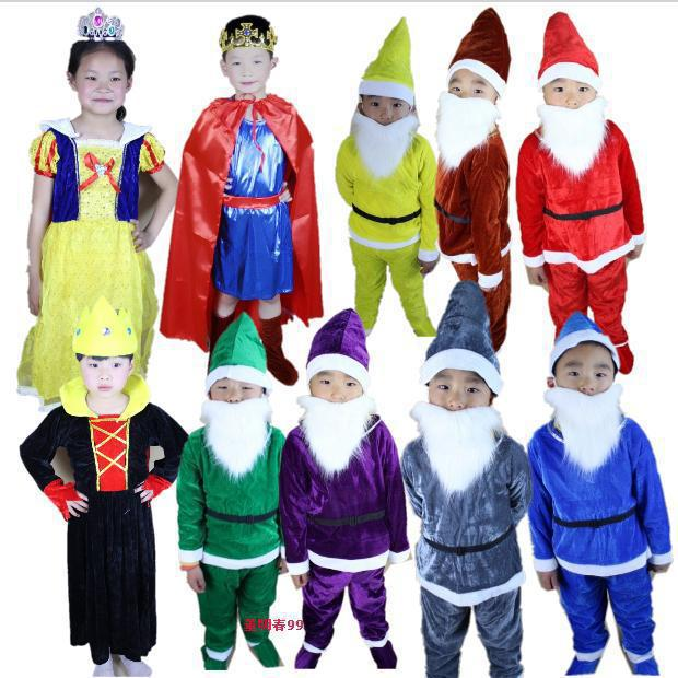 Snow White and the Seven Dwarfs costumes kids stage costume on hot sale Party Dress Carnival Costume cheap price size s 3xl