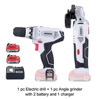 KEINSO 12V Angle Grinder and Electric Power Drill Set with Lithium Battery for Wood Working and more Cutting Polishing