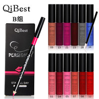 Makeup Kit Set Qibest Makeup Set 12 Colors Lip Gloss 12 Lip Brush Qibest Matte Lip