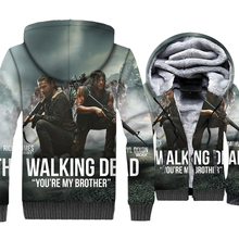Fashion Man 2018 Autumn Winter Thick Mens Sweatshirts Hip Hop Unisex Zipper Jackets Harajuku 3D The Walking Dead Anime Hoodies