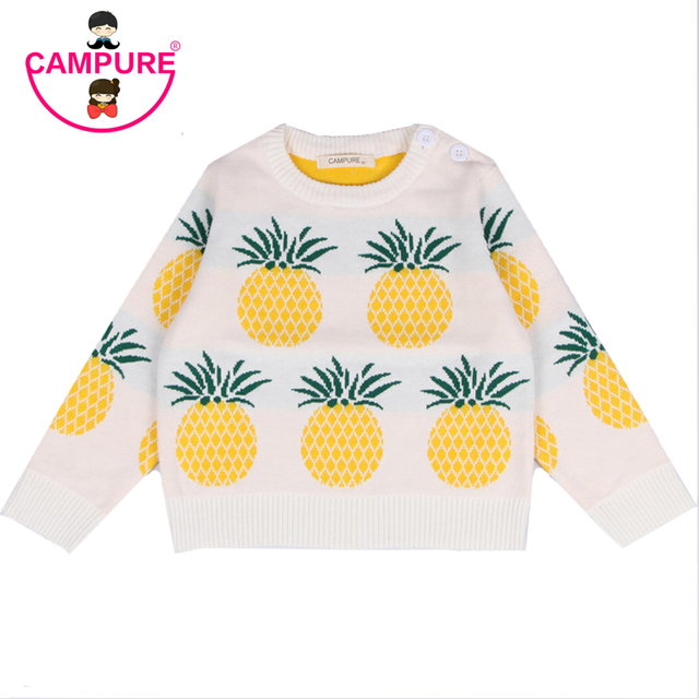 90b24badb CAMPURE Fashion Girl Winter Sweater Pineapple Kids Clothes 2016 Boys ...