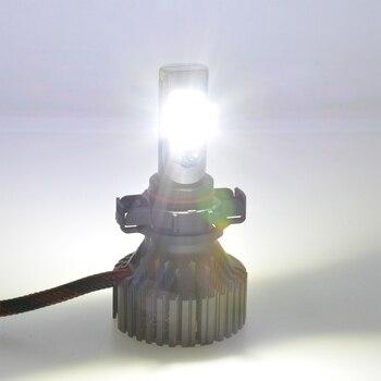 Glühlampenfassung | 1 Paar PSX24W PSX24 Led Scheinwerfer Kit Externe Beleuchtung Nebel Licht Lampe Aufgesteckt XHP50 8000Lm 12 V 24 V Fahren Lauf Led Birne
